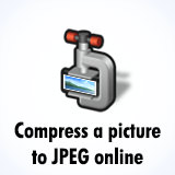 Compress a picture in JPEG online