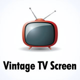 Vintage TV effect / Retro television screen