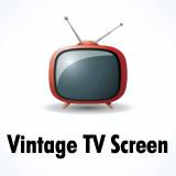 Vintage TV effect / Retro television screen