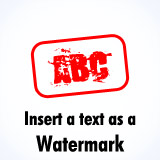 Add a text watermark / overlay